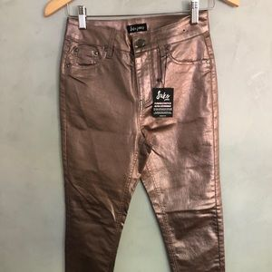 Suko Metallic Stretchy Jegging Women Pants Size 2